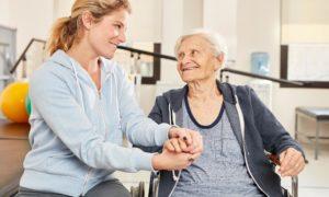 Geriatric rehabilitation of a senior recovering from injury or illness